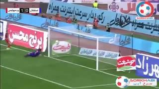 گل به خودی حسین حسینی به استقلال - پرسپولیس 1 - 0 استقلال