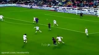 تمام حرکات مسی ورونالدینیو مقابل رئال مادرید قسمت دوم