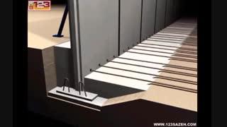 نحوه اجرای دیوار حائل زیرزمین
