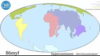 انیمیشن جابجایی قارهها در سیصد میلیون سال آینده