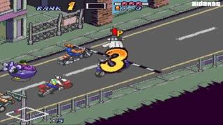 4 دقیقه گیم پلی بازی موتور سواری از مریخ Biker Mice from Mars 1994 برای کامپیوتر
