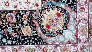 فرش 1200 شانه - طرح گلستان سورمه ای
