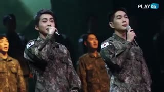 ONEW and XIUMIN in military musical