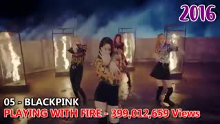 Top 10 Most Viewed KPOP Music Videos Each Year
