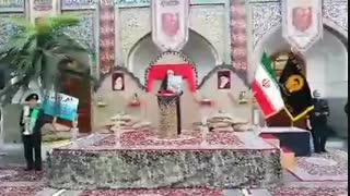 قرائت وصیت نامه پدر توسط دختر شهید حسین محرابی