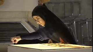 نقاشی با شن خانم فاطمه عبادی