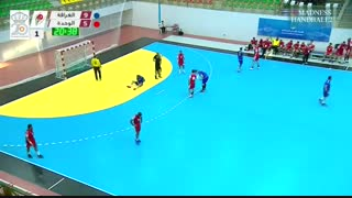 دیدار تیم های هندبال الغرافه قطر و الوحده عربستان در قهرمانی باشگاه های عربی2019