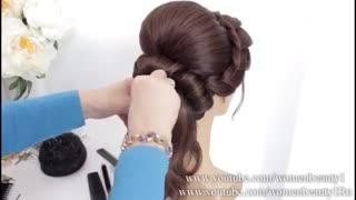 آموزش مدل مو دخترانه شینیون پایین ساده- مومیس مشاور و مرجع تخصصی مو