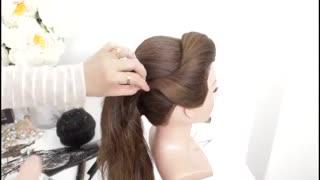 آموزش مدل مو دخترانه شینیون بافت- مومیس مشاور و مرجع تخصصی مو