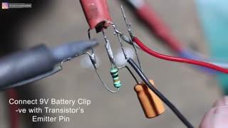 ساخت آمپلی فایر صوتی تنها با یک ترانزیستور BC547