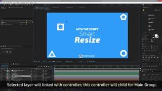 اسکریپت افتر افکت تغیر سایز کامپوزیشن Aescript - Smart Resize