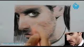 آموزش نقاشی چهره با مدادرنگی به وسیله ی هاشور
