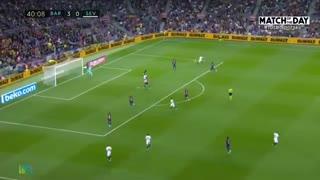 خلاصه بازی بارسلونا 4 - سویا 0 (لالیگا اسپانیا)