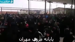 حضور گسترده زائران در مرز مهران