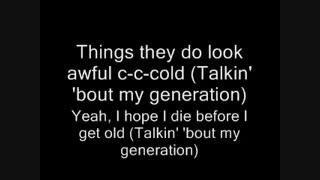 The Who-My Generation Lyrics
