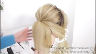 آموزش مدل مو دخترانه شینیون حصیری- مومیس مشاور و مرجع تخصصی مو