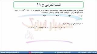 جلسه 24 فیزیک دوازدهم-شتاب متوسط و شتاب لحظهای6 تست تجربی خ 98-مدرس محمد پوررضا