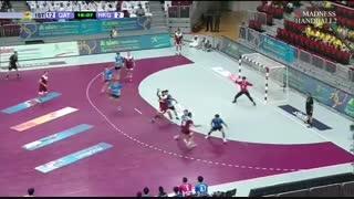دیدار تیم های هندبال قطر و هنگ کنگ در انتخابی المپیک 2020