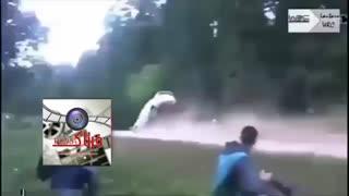 حادثه ای وحشتناک در مسابقه اتومبیلرانی