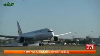 طولانیترین پرواز مستقیم جهان فرود آمد | ویدئویی از پایان سفر نیویوک تا سیدنی بدون توقف