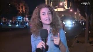 تو دهنی مرد لبنانی به خبرنگار مزدور