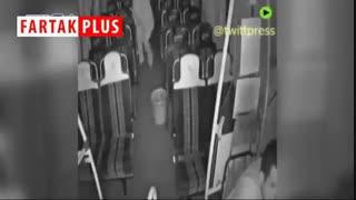 ترس راننده اتوبوس از دیدن زن و مردی که در اتوبوس جا ماندند!
