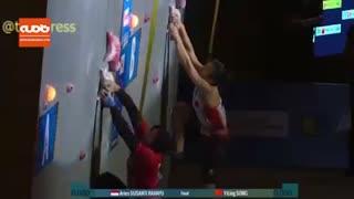 ویدئویی حیرت انگیز از صخره نوردی یک زن اندونزیایی
