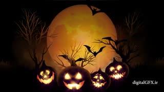 دانلود رایگان فوتیج هالووین Halloween Background Animation