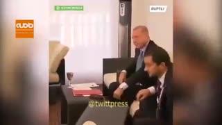 سوتی اردوغان هنگام دیدار با پوتین جلوی چشم رسانهها