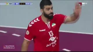 دیدار تیم های ملی هندبال ایران و کویت در انتخابی المپیک 2020
