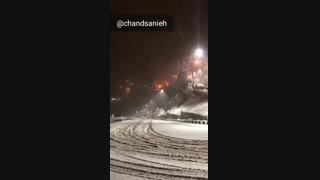 بارش برف در جاده شمشک استان تهران