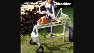 وسیله ای برای تسهیل برشکاری چوب