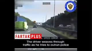 دستگیری سارق خودرو پس از فرار با سرعت ۱۴۰ کیلومتر در اتوبان