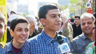 گزارش میدانی رسا از راهپیمایی ۱۳ آبان