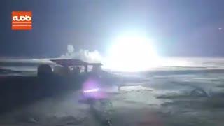 لحظه شلیک برای انهدام پهپاد متجاوز به حریم هوایی ایران در بامداد جمعه