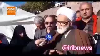 حضور نماینده مقام معظم رهبری در مناطق زلزله زده