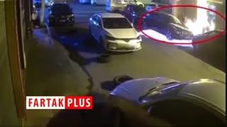 در نتیجه کشتن سوسک، ۳ خودرو به آتش کشیده شد