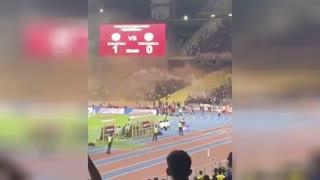 درگیری هواداران فوتبال