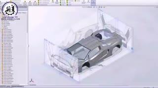 طراحی لامبورگینی به وسیله نرم افزار SolidWorks