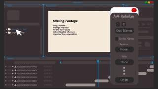 اسکریپت افترافکت 1.1 Aescripts - AAF Relinker
