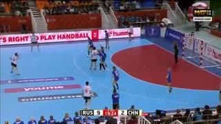 دیدار تیم های روسیه و چین در مسابقات هندبال قهرمانی جهان2019