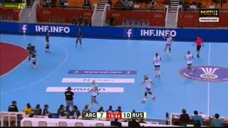 دیدار تیم های آرژانتین و روسیه در مسابقات هندبال قهرمانی جهان2019