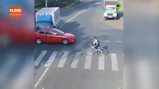 تصادف عجیبی که در آن هیچ کس آسیبی ندید!