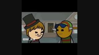 """صداگذاری خنده دار روی انیمیشن(""""یلدا پیشاپیش مبارک"""")"""
