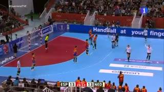 دیدار تیم های ملی هندبال هلند و اسپانیا در فینال مسابقات هندبال قهرمانی جهان2019
