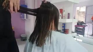 آموزش مدل مو بلند گرد خرد شده- مومیس مشاور و مرجع تخصصی مو