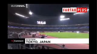 بخشی از افتتاحیه ورزشگاه المپیک ۲۰۲۰ توکیو