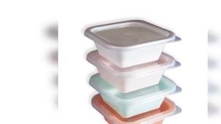 ظرف نگهدارنده مربع روبیک پلاستیک (فریزری)