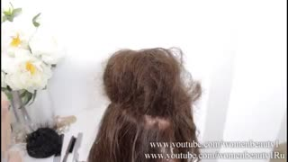 آموزش مدل مو دخترانه شینیون ویدینگ- مومیس مشاور و مرجع تخصصی مو