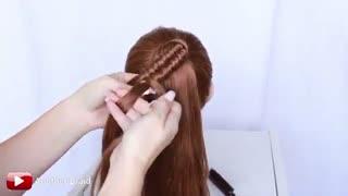 آموزش مدل مو دخترانه بافت توری مارپیچی- مومیس مشاور و مرجع تخصصی مو